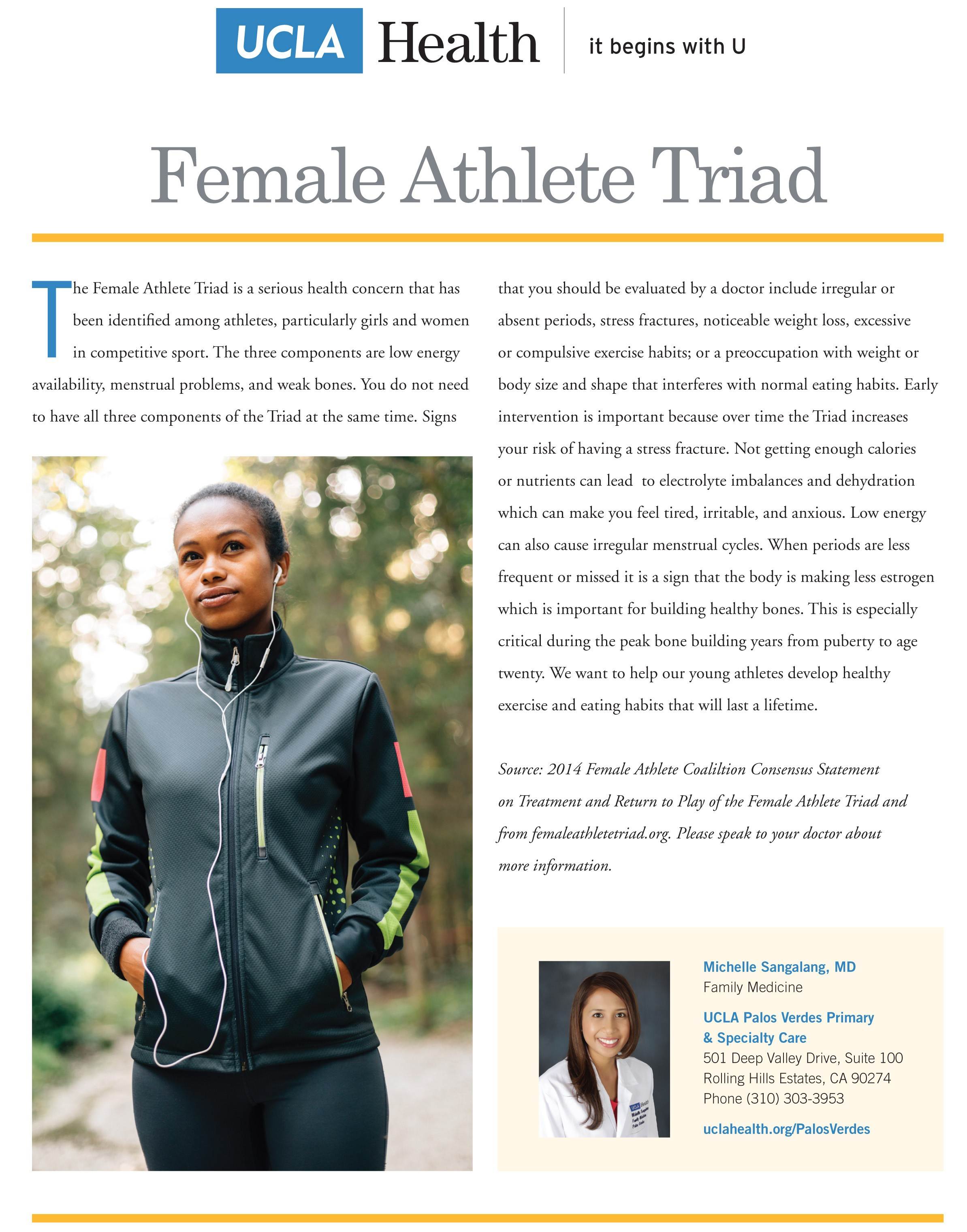 the female athlete triad essay